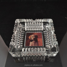 Dog Printted Wholesale Glass Ashtray Export Glass Ashtray