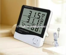 Digital LCD Hygrometer HTC-2 with Clock Home Decor