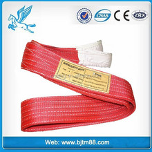 polyester soft round webbing sling/lifting sling whole with double eye 3T
