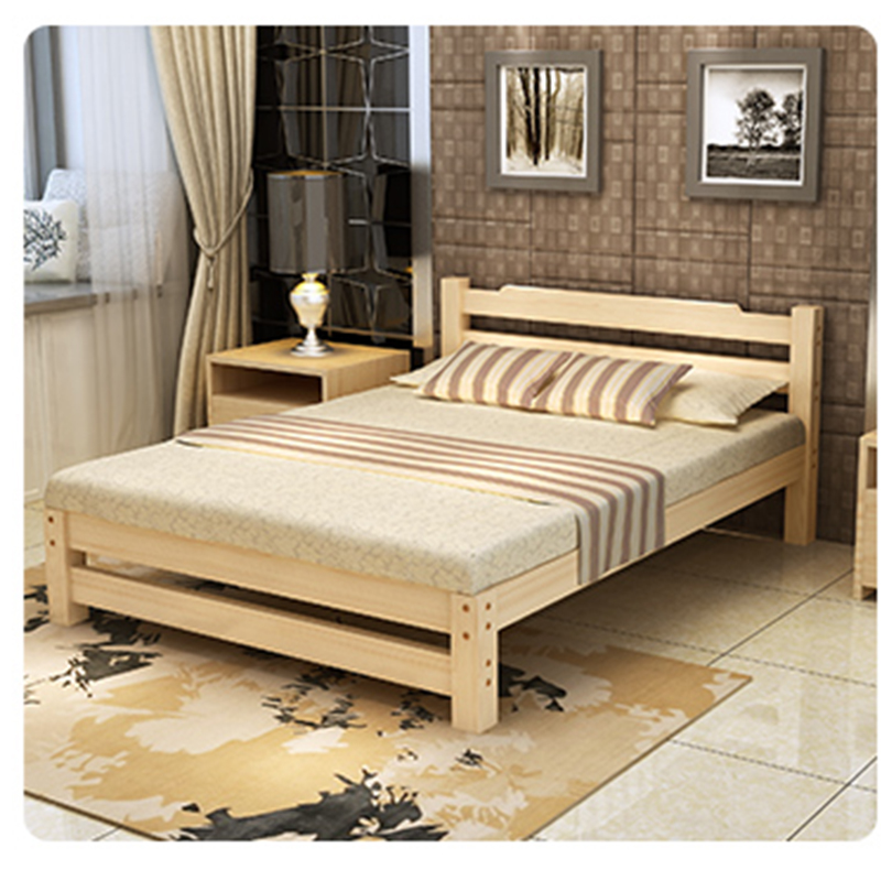Good sales customized color wooden bed single bed price