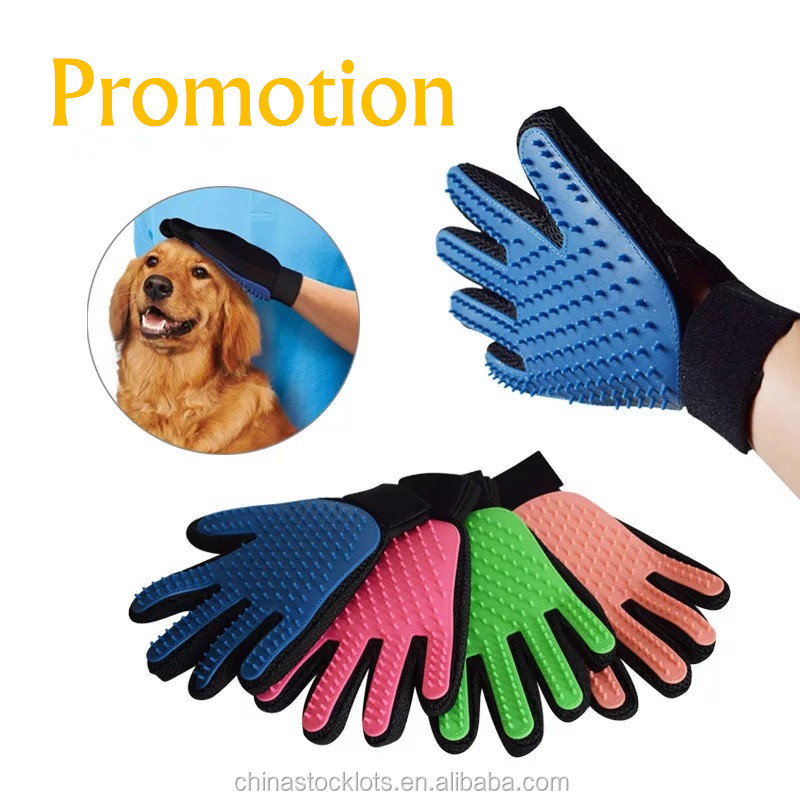 Factory private label Best Selling Eco-Friendly Stocked as seen on tv dogs grooming tools glove pet care dog hair brush