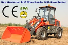 European Popular Style Qingdao Everun Brand CE Approved 1.5 Ton Articulated Compact Wheel Loader