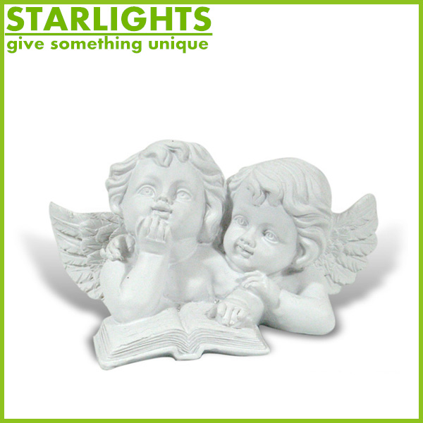 New style unpainted pray resin winged angel statue