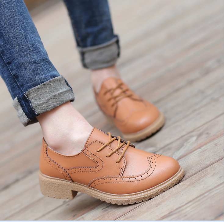 2017 summer korean fashion new women real leather casual shoes
