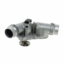 11531437040 aluminum tube thermostat housing assembly with thermostat opening temperature 97 degree bmws car parts
