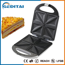 Hot sale 4 in 1 4 slice triangle plate ceramic coating grill sandwich maker