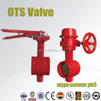 ISO Soft Sealed Iron Body Grooved Butterfly Valve with actuator