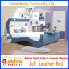 Alibaba italian leather bed children bed design of Foshan manufacturer 2809B