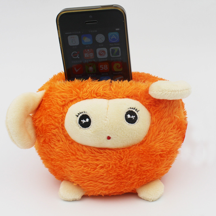 Plush Toy Bean Bag Cell Phone Holder custom phone holder novelty cell phone holder