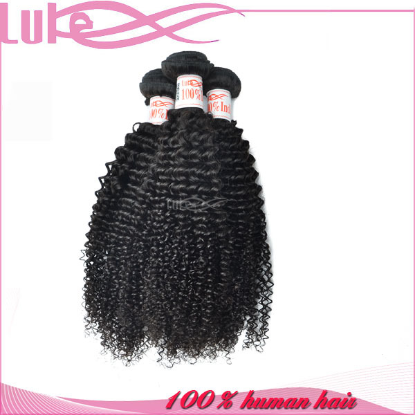 Top Quality Natural Color New Arrival Wholesale 26 Inch Kinky Curly 100 Percent Indian Remy Human Hair