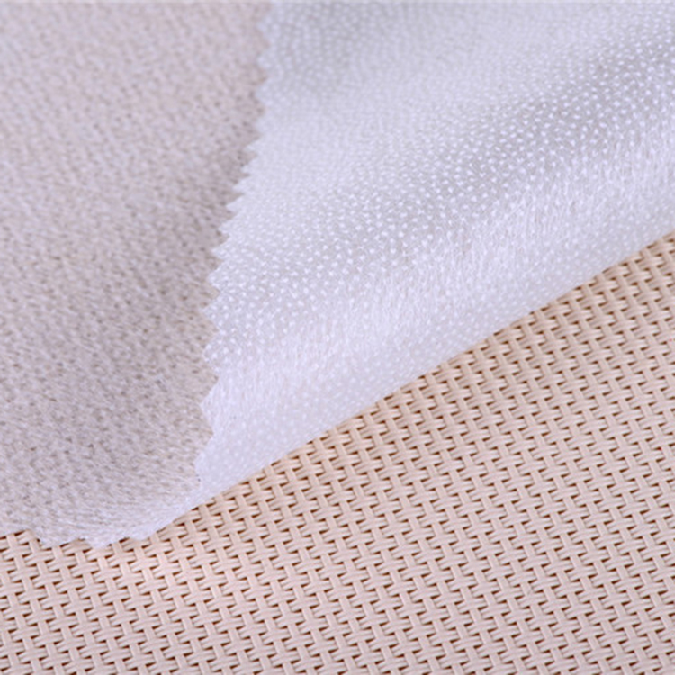 37 grams 40 inches wide 3566 double dot polyester fusible non woven interlining
