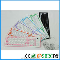 Heat New product Waterproof Ultra Silicone keyboard For desktop notebook computer