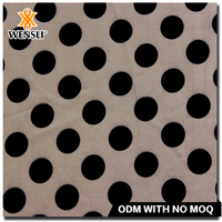 High quality custom printed dot Polyester fabric wholesale 50D*50D 66GSM