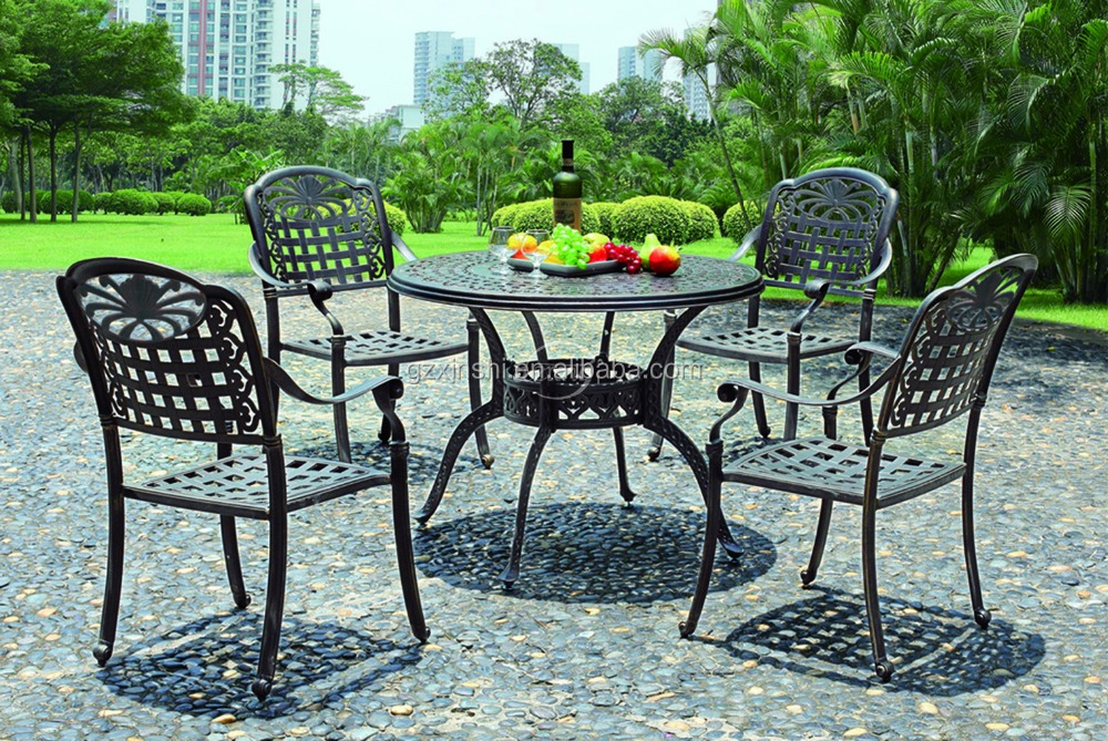 European Powder Coating Cast Aluminum Outdoor Garden Metal Furniture Leisure