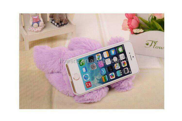 FL2549 lovely aninmal cute plush doll toy case for iphone 6