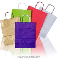paper bags with flat handle,cement packaging paper bags , strong brown paper bags