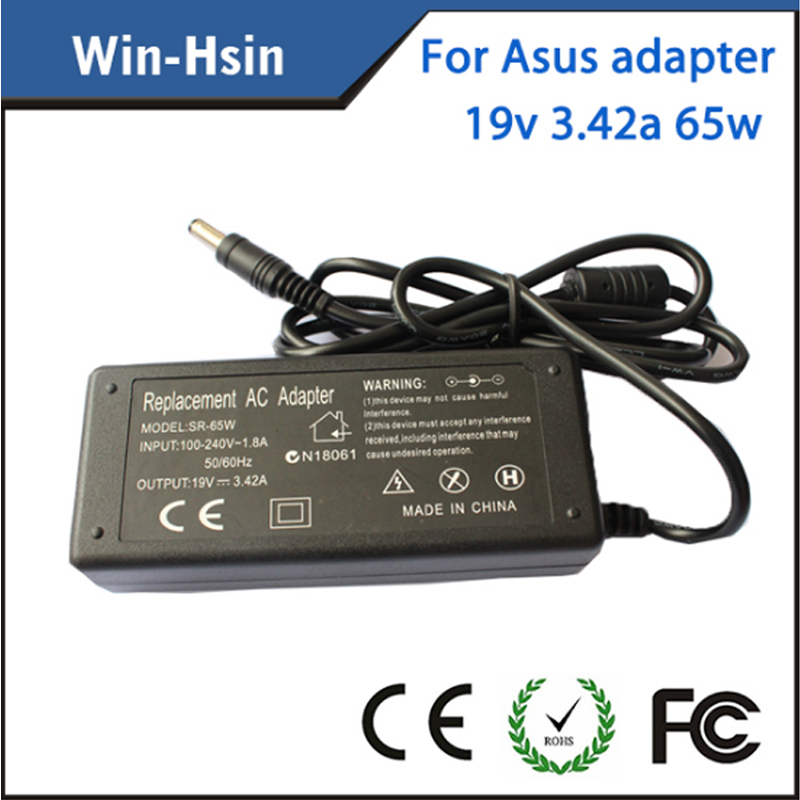 Ac Adapter For Asus 19v 3.42a 65w Laptop Power Adapter
