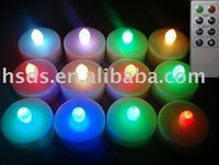 changing color Tea Light LED Candle