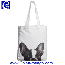 Innovative gift canvas shopping tote bag with dog pattern