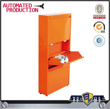 Modern Stylish Steel Lockable Shoe Cabinet / corner shoe cabinet/ metal shoe cabinet