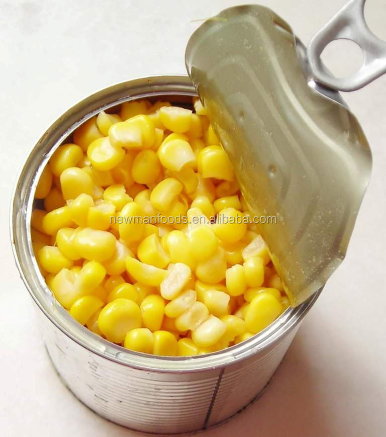 340g yellow sweet corn tender kernel in can