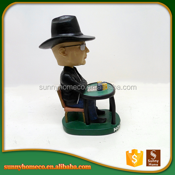 Personalized custom polyresin souvenir funny bobble heads
