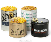 Tinplate Metal Popcorn Tin