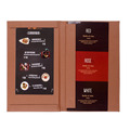Restaurant hotel supplies wholesale cafe menu cover leather drink menu holder