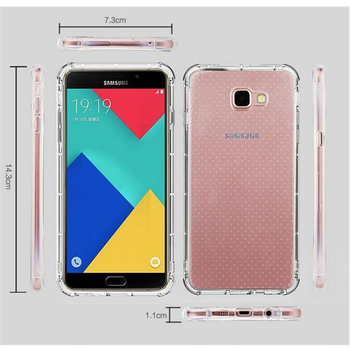 C&T Transparent Air Cushion Shock Resistant TPU Bumper Cover Case for Samsung Galaxy A9 Pro