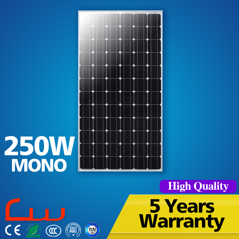 High efficiency 200W 250 Watt monocrystalline solar panel