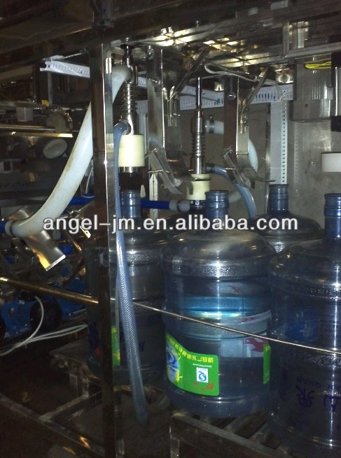 production line from raw water to produced water in bottles line/