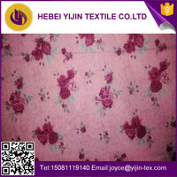 China manufacturer cotton flannel fabric for bed sheet textile