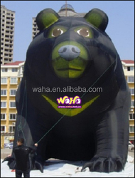 10m high black giant inflatable bear for advertising