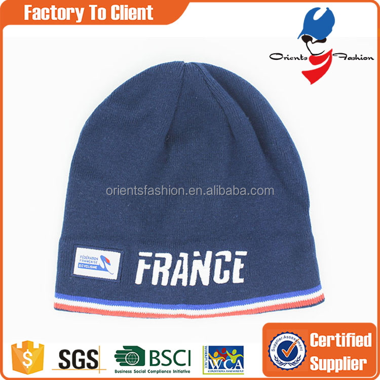 Factory hot selling acrylic ski beanie hat