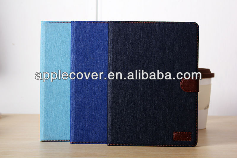 Jeans card slots flip tablet case for ipad air , for i pad air case cover