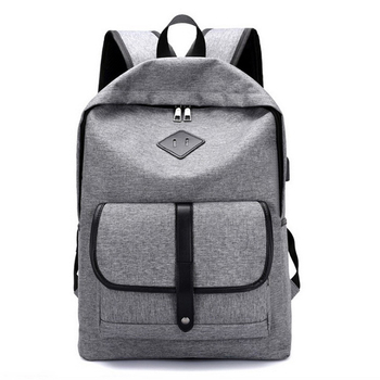 High quality waterproof college student school laptop backpack with usb ports