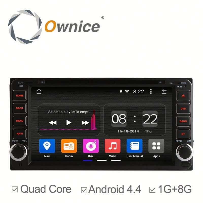 "7"" 4 core RK3188 android 4.4 up to 5.1 car multimedia For Toyota RAV4 Corolla Prado Built in Canbus bluetooth"
