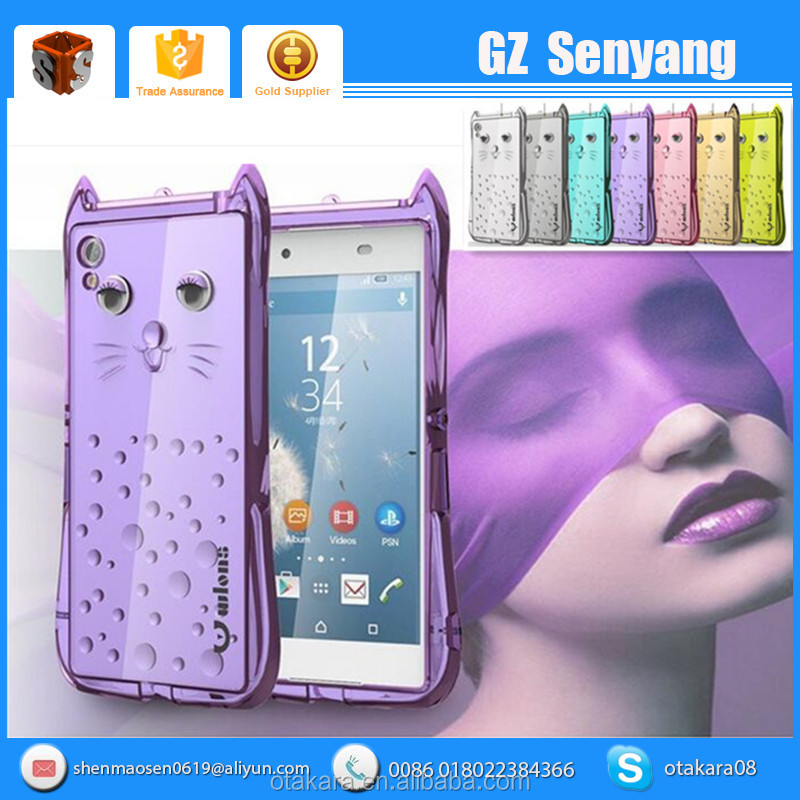 2016 3D Lovely Cartoon Cat Design Mobile Phone Case For Sony Xperia Z5