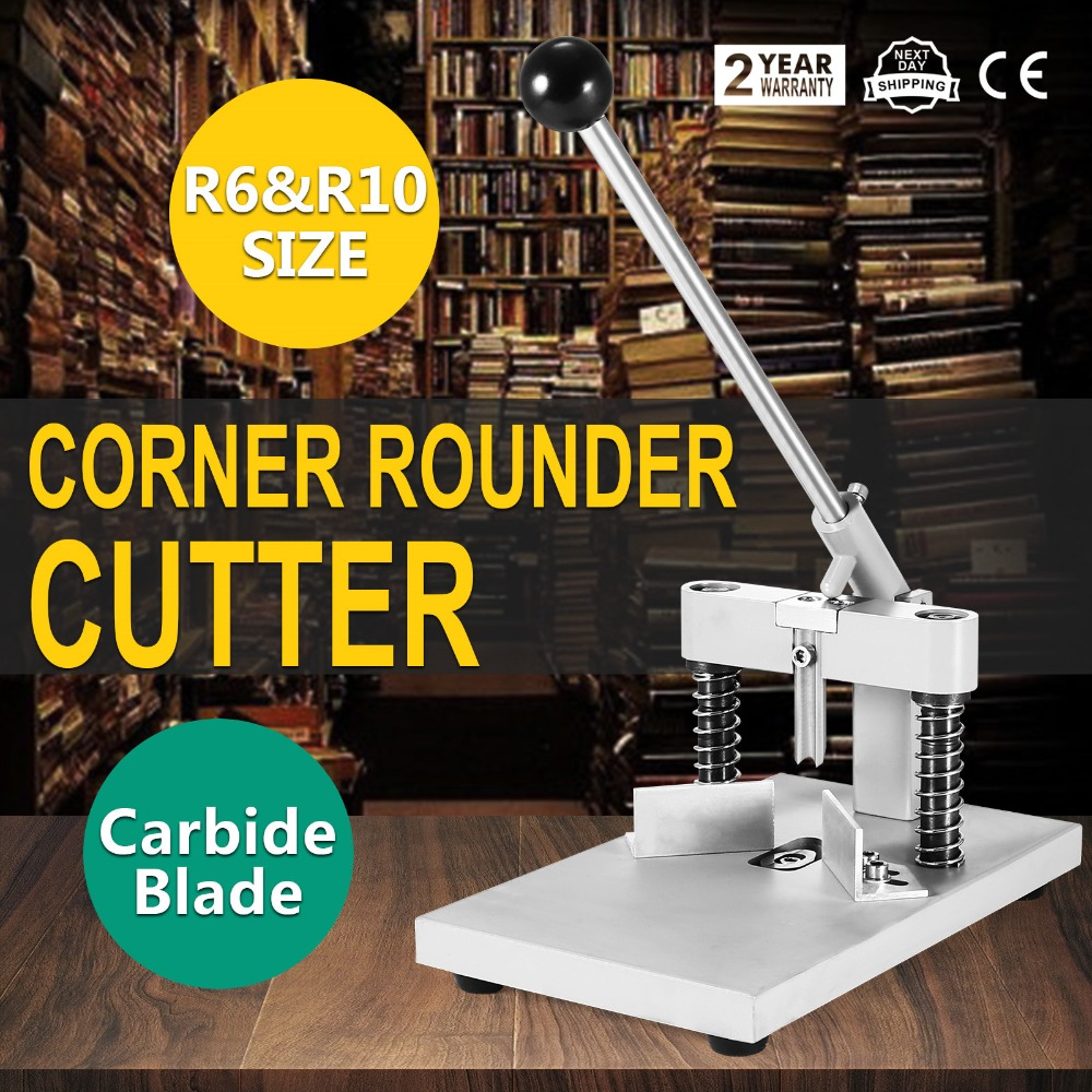 R6 <strong>R10</strong> All steel PVC Paper Card 30mm Thickness Manual Cornor rounder Cutter Machine