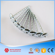 Polished Roofing Nails Umbrella Head Smooth Shank High Quality Polish Surface Roofing Sheet Nail