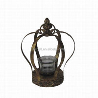 Golden antique metal crown decor for wholesale
