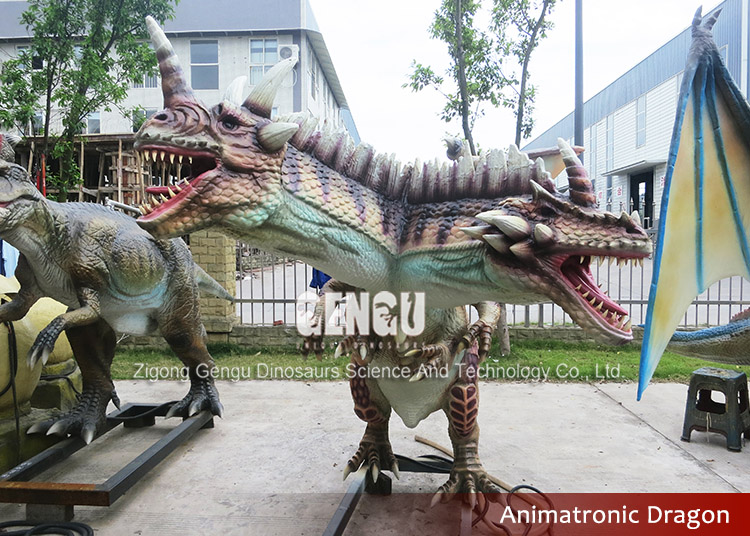 Remote Control Animal Model Mechanical Dragon Statue