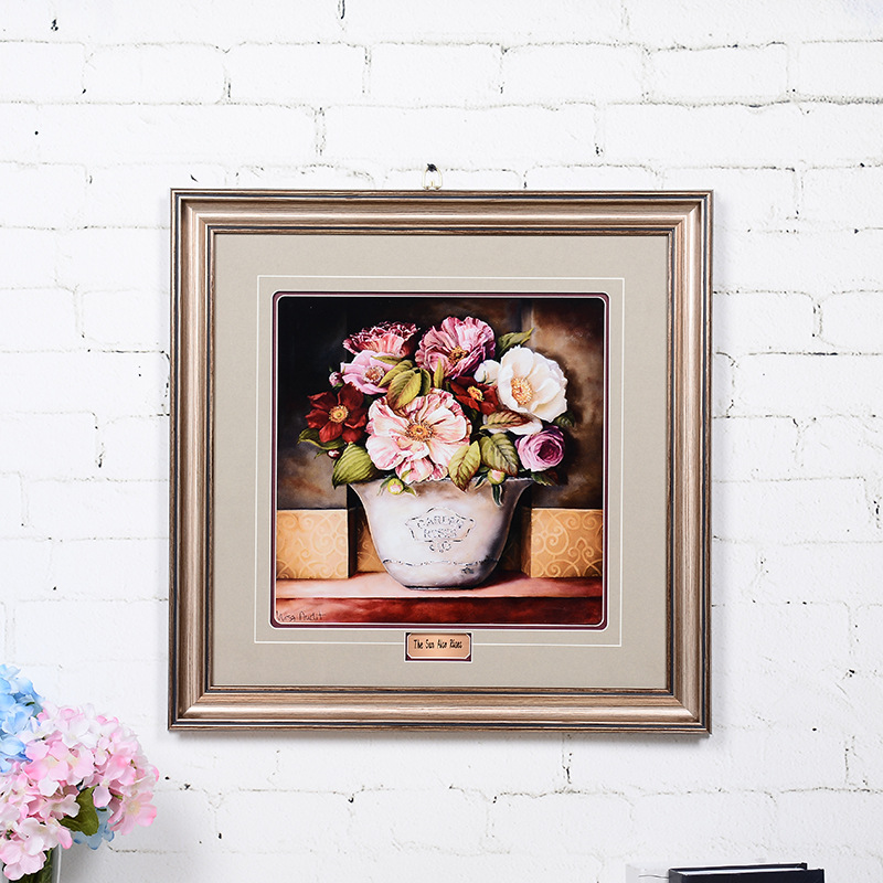 wholesale plastic art Gold moulding eco-friendly with beautiful flower poster picture photo frames
