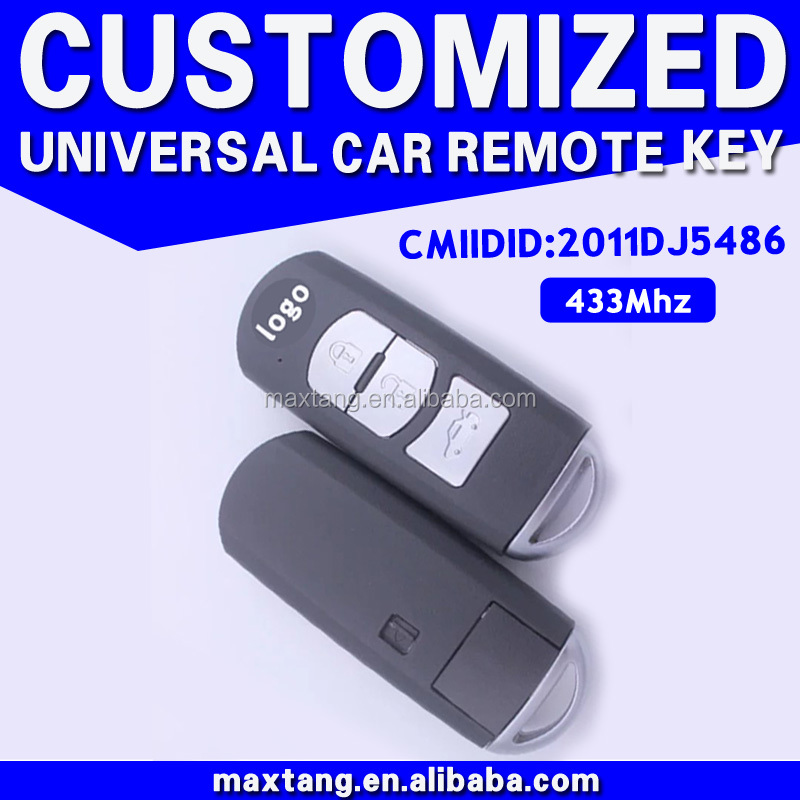 Smart Key 433 Mhz Car Key Control 3 Buttons Remote Key For Mazda MTF-101690