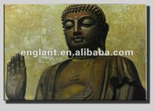 competitive price figure of buddha oil painting with beautiful texture