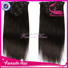 Hot Sale Indian Yaki Straight Clip-in Human Hair Extensions Virgin Hair Wholesale 6A Grade Indian Remy Hair