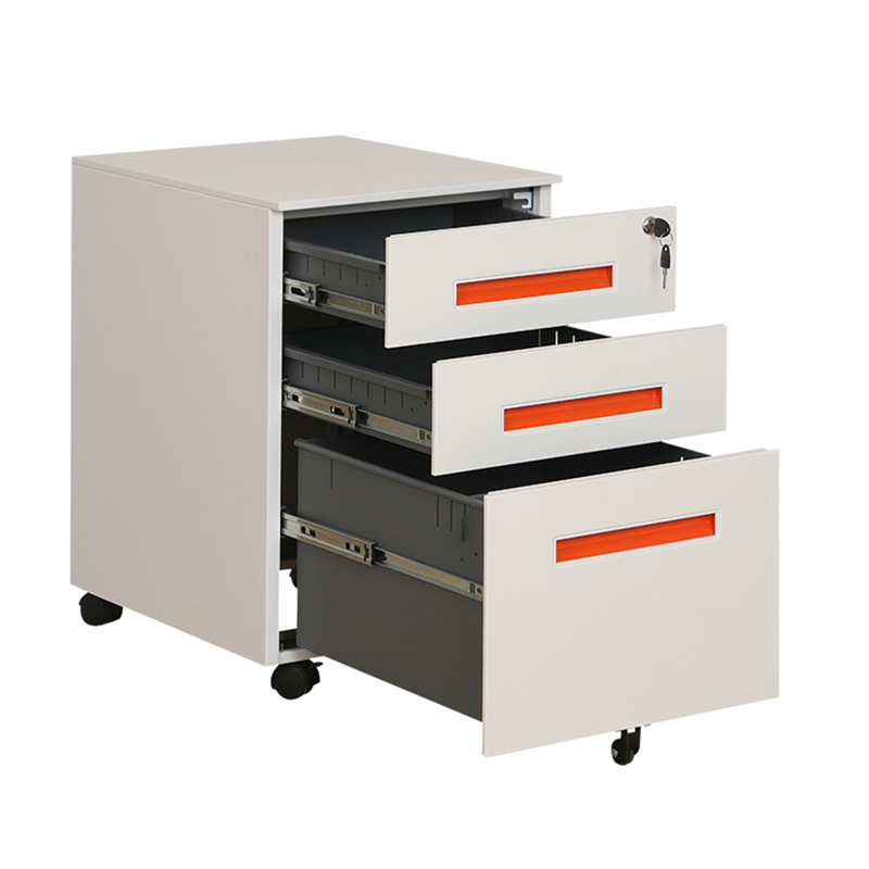 Pre Assembled Under Desk Rolling Metal Mobile Computer Steel File Cabinet