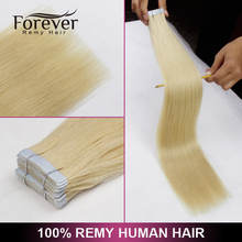 Popular In UK Wholesale Thick Bottom clear band magic tape hair extensions with highlights