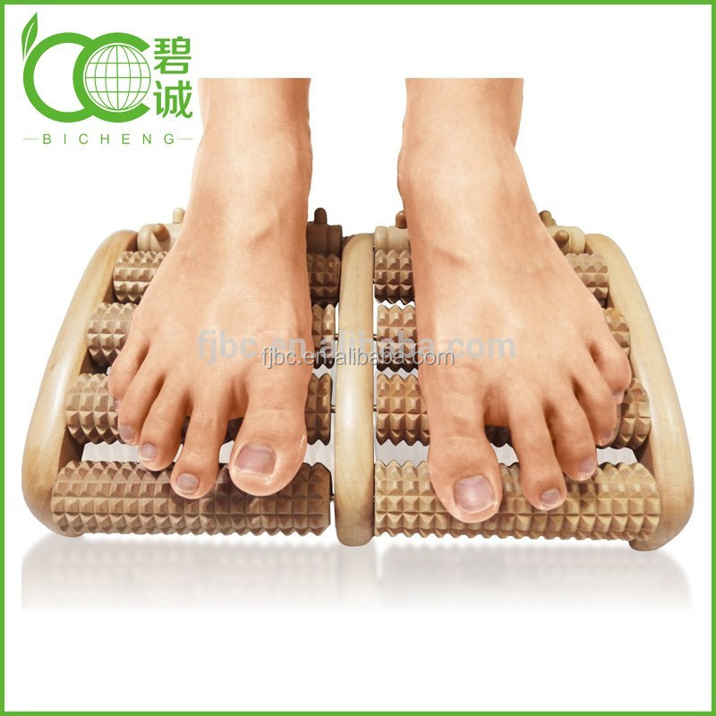 Factory high quality wooden foot massager rolling foot massager