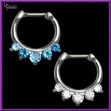 Yiwu Jewelry Factory Wholesale Five Pronged CZ Attractive Design Nose Ring Piercing